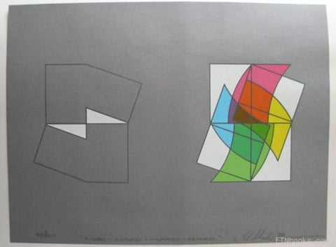 Steven Wheeler# 4 CUBES,screenprint #signed 40/100