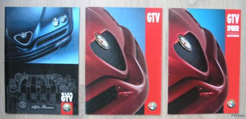 Dutch Alfa Romeo GTV set # 3 GTV BROCHURES # 1997/1998. nm+