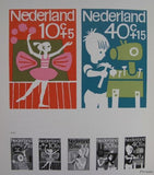 dutch postal design, Kiljan a.o.# 40X TOESLAG # 1967, nm