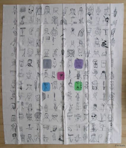 Robin Winters # MULTIPLES # large printed textile and print,1986, nm++