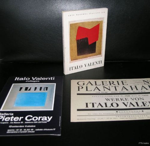 Italo Valenti # SET OF EXHIBITION MATERIAL # signed book, nm, 1970, 1980
