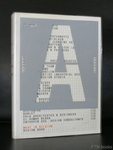 MMAP , typography# MADE IN BELGIUM design book# 135 belgian designers, 2001, nm+