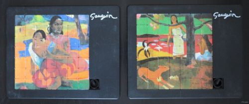 Large Sliding puzzles, Pussycat  / 49 pieces # GAUGUIN + GAUGUIN # set of 2, new