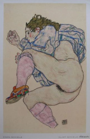 Egon Schiele # Checkered Slipper, 1917  Kallir 1928, nm