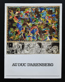 "Alechinsky #Cover menu AU DUC d""ARENBERG # 1983, nm+"