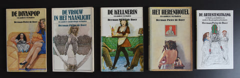 Pat Andrea # set of 5 SHORT STORY NOVELS by Herman Pieter De Boer# 70's, nm