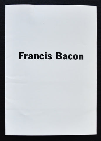 Hirshorn Museum # FRANCIS BACON # invitation complete set, 1989, nm+