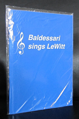 John Baldessari # SINGS LEWITT # 2012, sealed copy