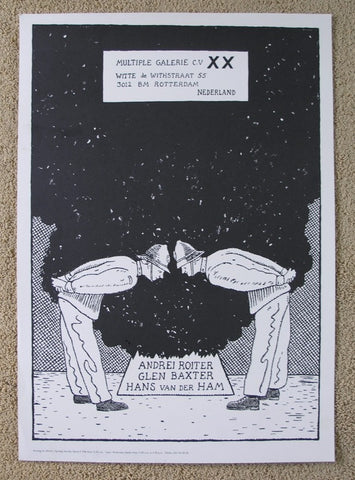 Glen Baxter # exhibition POSTER # XX gallery, nm+