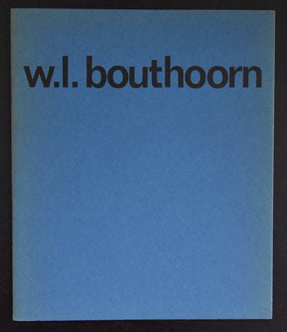 Haags Gemeentemuseum # W.L. BOUTHOORN # 1965, nm+++