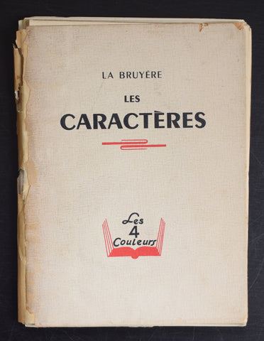 La Bruyere # LES CARACTERES # 1943, ed. o 1500, numbered 257, vg