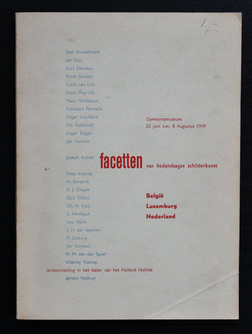 Haags Gemeentemuseum ( Sandberg design) # FACETTEN # 1949, nm