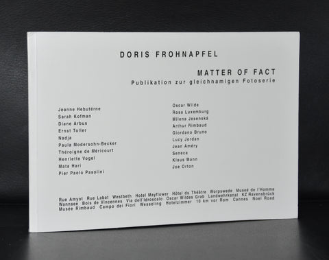 Doris Frohnapfel # MATTER OF FACT # 1996, nm++, + original signed photo