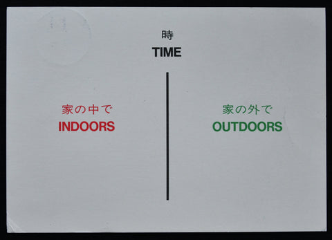 Hamish Fulton # TIME, Indoors Outdoors # 1991, invitation card, nm++