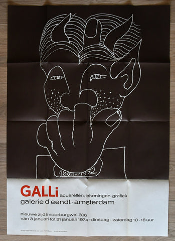 galerie d'Eendt # GALLI # poster / catalogue 1974, nm+++