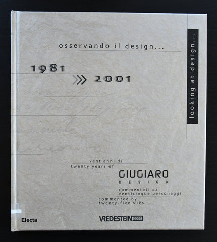 Giugiaro # LOOKING AT DESIGN 1981-2001 # 2001, nm+