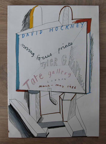 Tate Gallery # DAVID HOCKNEY, Tyler Graphics, Moving focus prints # 1986, mint--