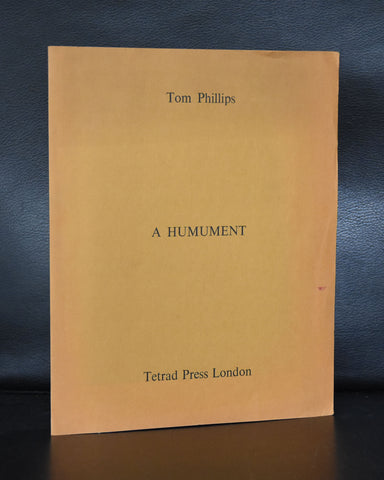 Tom Phillips # A HUMUMENT # Tetrad announcement, 1970, nm++