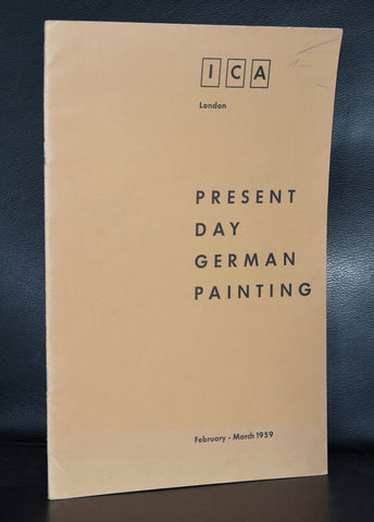 ICA London # PRESENT DAY GERMAN PAINTING #1959, nm