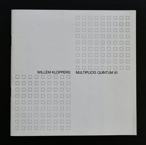 Willem Kloppers # MULTIPLICIS QUINTUM , 11 zeefdrukobjecten # 1981, nm+