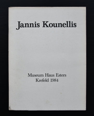 Museum Haus Esters # Jannis KOUNELLIS # + invitation, 1984, nm+