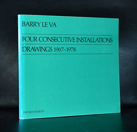 the New Museum # BARRY LE VA, Four consecutive Installatiosn/ Drawings 1967-1978 # 1978, mint-