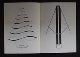 Pedro Xisto (signed), Poesia visual poetry # LOGOGRAMAS # Brazil, 1966, mint-