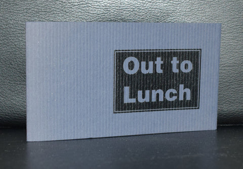 Stephen Hoskins # OUT TO LUNCH # artist book, ed. 250, signed