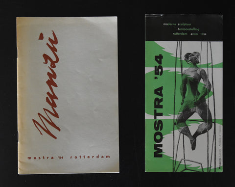 Roterdam MOSTRA '54 # MANZU # catalogue plus folder, nm