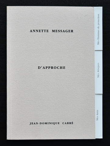 Annette Messager #d'APPROCHE # 1995, numbered, mint