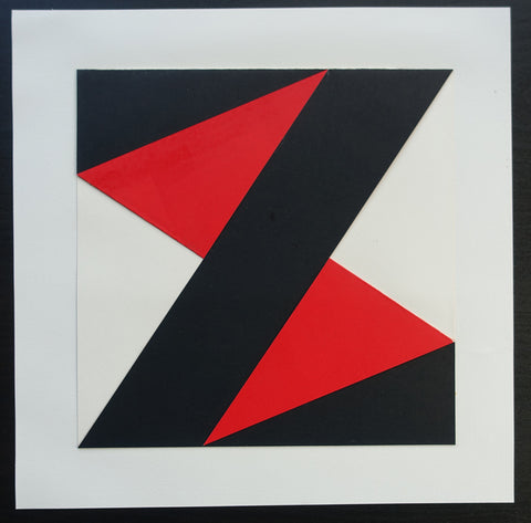 Peter Meyer # ABSTRACT COMPOSITION/ CUT out paper # 1989, signed, nm+