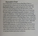 Gerrit Thomas Rietveld # RED AND BLUE CHAIR # 1983, model kit scale 1 : 6, MINT