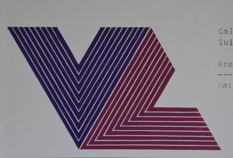 galerie Renee Ziegler # FRANK STELLA # invitation with special print V series, 1970, nm