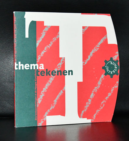 Haagse Kunstkring # THEMA TEKENEN # 1994, dutch design typography, mint