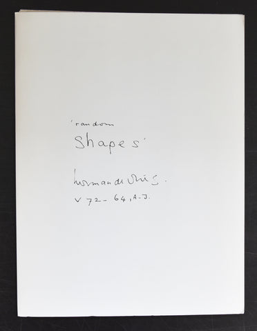 Stedelijk Museum # HERMAN DE VRIES  / Random Shapes # 1975, mint--/nm+++