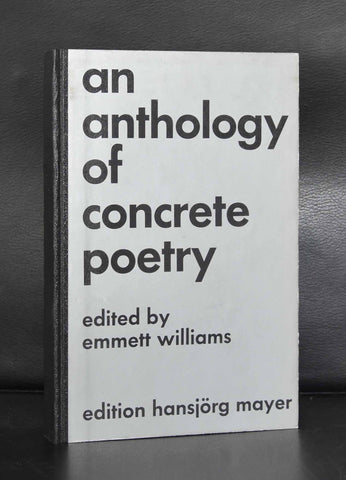 Emmett Williams # AN ANTHOLOGY OF CONCRETE POETRY # Hansjorg Mayer,1967, nm+