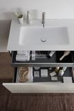"Blu Bathworks F51V1-0600 23½"" 51 Collection Full Floating Wall-Mount Bathroom Vanity"