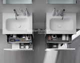 "Blu Bathworks F51V1-0700 27½"" 51 Collection Full Floating Wall-Mount Bathroom Vanity"