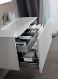 "Blu Bathworks F51V1-0900 35½"" 51 Collection Full Floating Wall-Mount Bathroom Vanity"