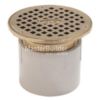 Zurn FD2210 Finished Floor Adjustable Floor Drain, Nickel Bronze Head and Secured Grate