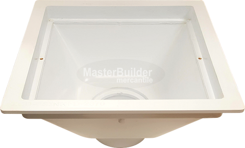 "Zurn FD2370 PVC 12"" x 12"" x 8"" Square Floor Sink"