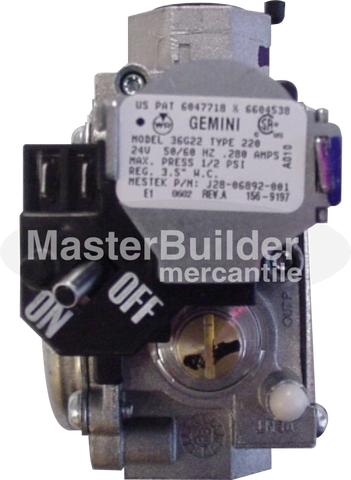 Beacon-Morris J28R06892-001 Gas Valve Direct Spark NG (BRT / BTU / BRU / BST)