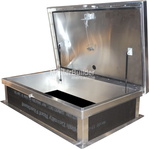 "Acudor RHA3862 30"" x 54"" Ship Stair Access Roof Hatch - Aluminum"