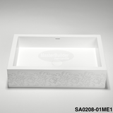 "Blu Bathworks SA0208 Box blu∙stone™ Countertop  / Undermount Basin 24"" x 16-1/4"""