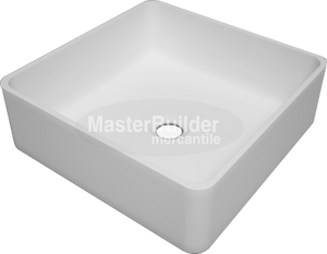"Blu Bathworks SA0209N37 Box blu∙stone™ Countertop Basin 14-1/2"" Square"