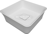 "Blu Bathworks SA0209N38 Box blu∙stone™ Countertop Basin 15"" Square"