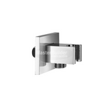 Blu Bathworks TC803 Modern Angular Handshower Wall-Union, Polished Chrome