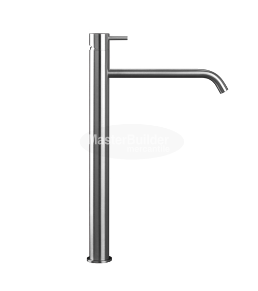Blu Bathworks TOX103 INOX Stainless Steel Single-Hole, Raised Deck-Mount Basin Mixer