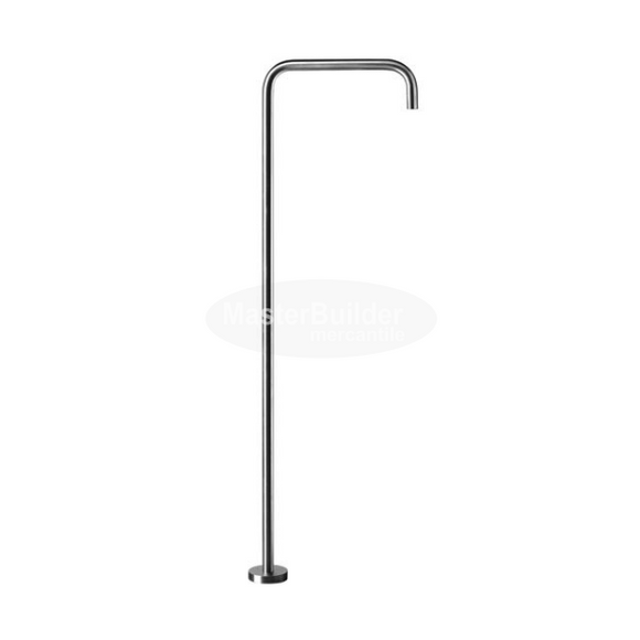Blu Bathworks TOX237-S INOX Modern Single-Hole Floor-Mount Basin Spout