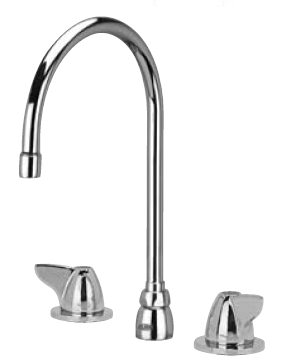 "Zurn Z831C3-XL Lead-Free Widespread Faucet with 8"" Gooseneck and Dome Lever Handles"